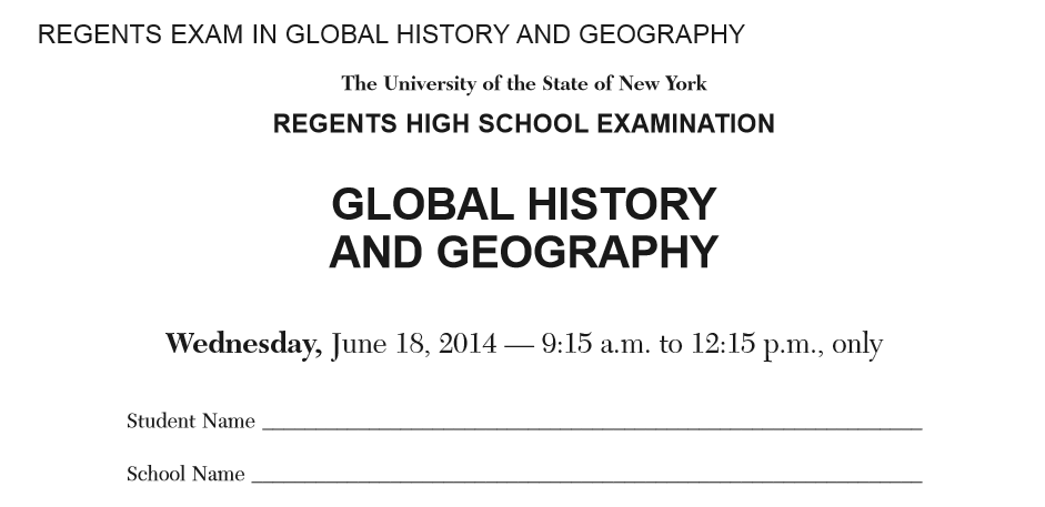Global studies june 2014